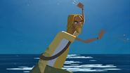 S1 E16 The Kahuna throws the six shrimp forks he has in his hands