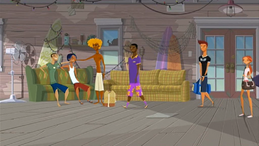 "S1 E1 Broseph greets Lance """"No Pants,"" what's happening?"",Lance says ""What's up, guys?"""
