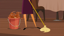 S1 E11 Emma cleans up the mess Mark and Todd made