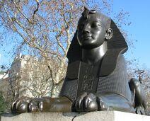 Cleopatra's Needle (London) sphinx 2