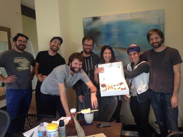 File:Writer's Room Celebrating Jessie's Birthday.jpg