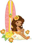 Orange Blossom And Her Surfboard