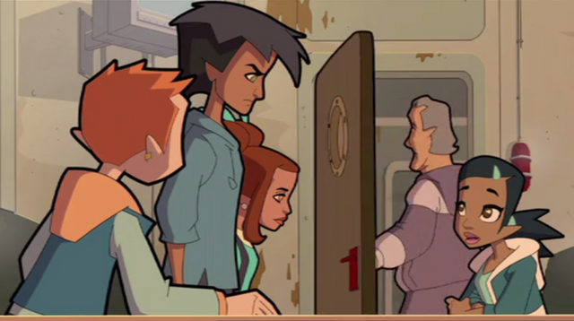 File:Tag, Eloise, Samira, and Jeremy, Tag Very Angry, A Blast from the Past.png
