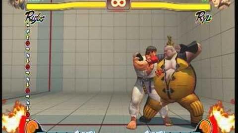 Street Fighter 4 Rufus - Galactic Tornado