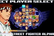 Street Fighter Alpha 3 Upper Select Screen