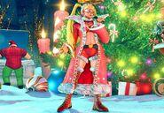 SFV R. Mika's Christmas costume