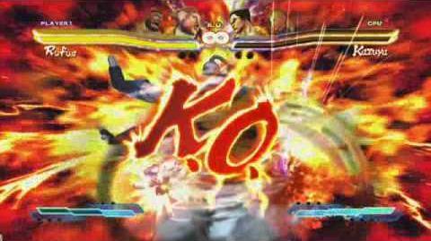 Rufus' Super Art in Street Fighter X Tekken