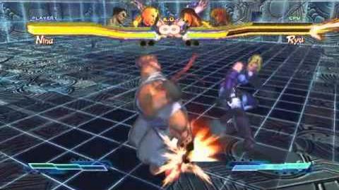 Nina's Super Art and Cross Assault in Street Fighter X Tekken