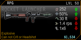 RPG Rocket Launcer