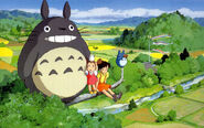 Totoro och Satsuki i öknen