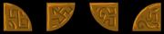 Brass tiles