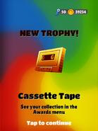Cassette tape trophy