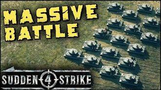 MASSIVE TANK BATTLE 1vs1 Multiplayer Gameplay Sudden Strike 4