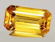 Golden sapphires gemstone 2