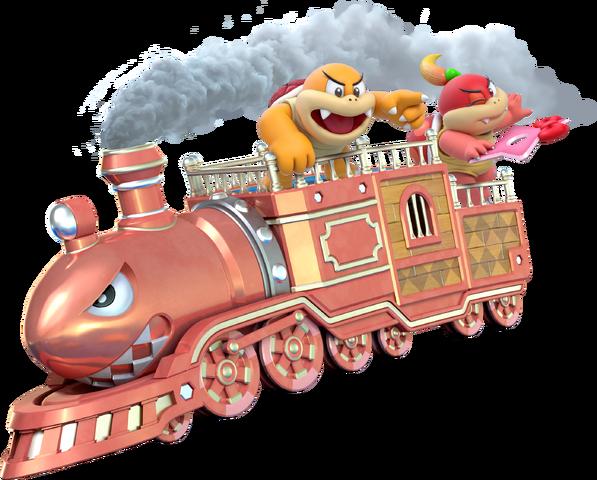 File:Boom Boom Pom Pom Train - Super Mario 3D World.png