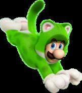 Cat Luigi Artwork - Super Mario 3D World