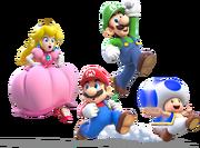 Main Crew Artwork (alt) - Super Mario 3D World