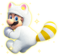 White Tanooki Mario Artwork - Super Mario 3D World
