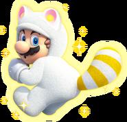 White Tanooki Mario Artwork - Super Mario 3D World