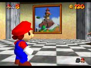 Super Mario 64 Whomps Fortress painting