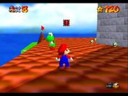 Peach's Castle exterior Yoshi on the roof 2