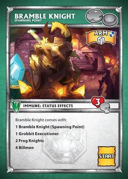 Card bramble knight