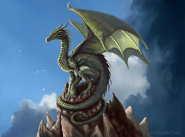 File:The green dragon by amisgaudi-d268rvq.jpg