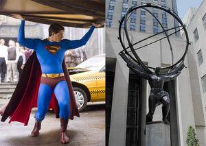 Superman as Atlas