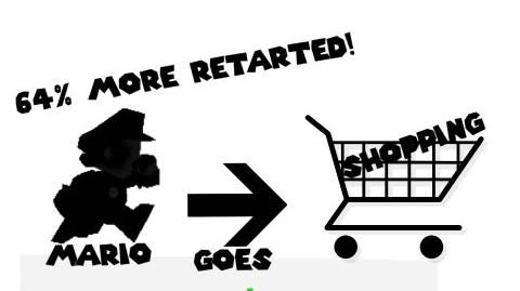 Retarded64 Mario goes shopping