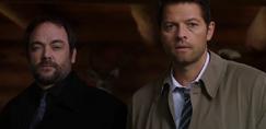 Crowley and Castiel find Rowena (12x03)