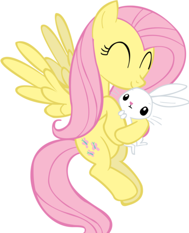 File:Fluttershy holding angel by jlee104-d4jt0md.png