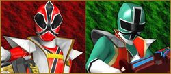 Super Princess Shinken Red and Hyper Shinken Green