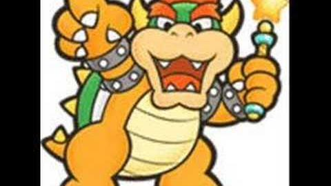 Paper Mario Angry Bowser