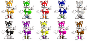 Tails alternate colors