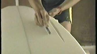 Shaping a surfboard