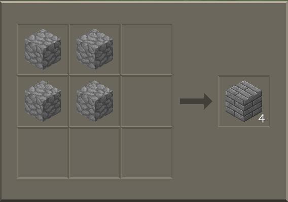 Crafting a stone brick