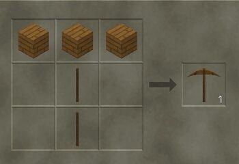Craft a sodden pickaxe