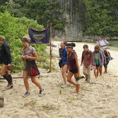Bikal tribe arriving back at home.