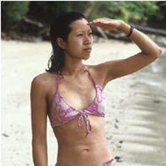 Shii Ann on the beach.