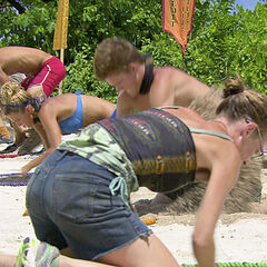 The castaways dig for balls in <i><a href=