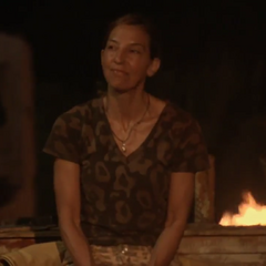 Debbie observing Nuku's Tribal Council.