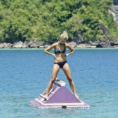 Andrea in her immunity-winning challenge.