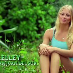 Kelley giving her first confessional of the season.