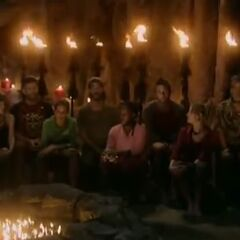 The final 8 at Tribal Council.