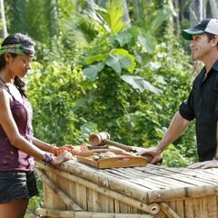 Brenda buying a item from the Survivor Auction.