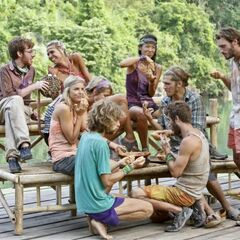 Enil Edam after the Survivor Auction.