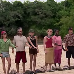 The contestants decide whether to eat or compete.