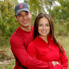 Rob and Amber's promotional photo for <i>The Amazing Race: All-Stars</i>.