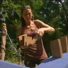 Corinne competes for immunity.