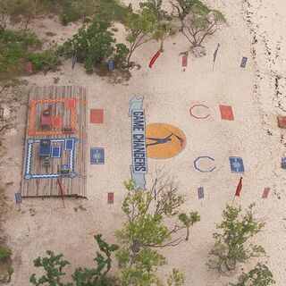 An aerial view of the challenge in <i><a href=